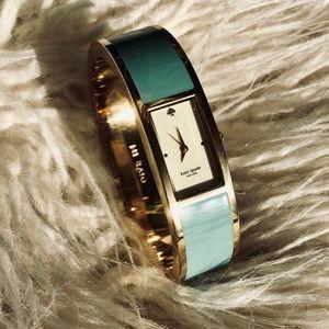 Kate Spade NY turquoise Carousel Watch bangle